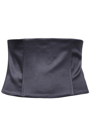 BRUNELLO CUCINELLI Silk-blend satin corset