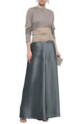 BRUNELLO CUCINELLI Silk-blend satin corset