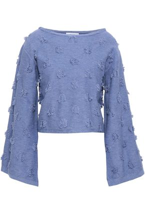 MILLY Fil coupé cotton sweater