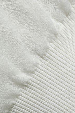 ALEXANDER WANG Layered open and ribbed-knit top