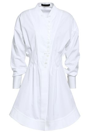 ALEXANDER WANG Cotton-poplin mini shirtdress
