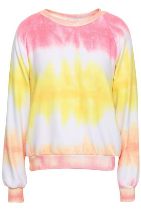 WILDFOX Tie-dye stretch-jersey top