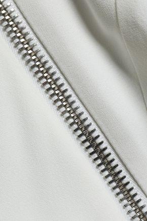 ALEXANDER WANG Zip-detailed satin-crepe shirt