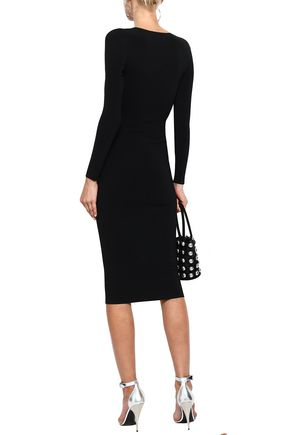 ALEXANDER WANG Chain-embellished ponte dress