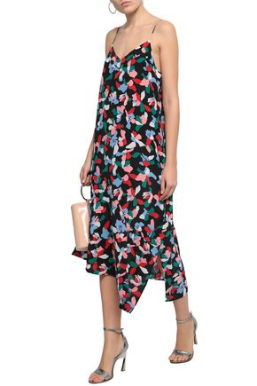 EQUIPMENT Jada asymmetric printed washed-silk midi dress