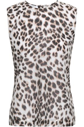 EQUIPMENT Reagan leopard-print cotton and silk-blend top