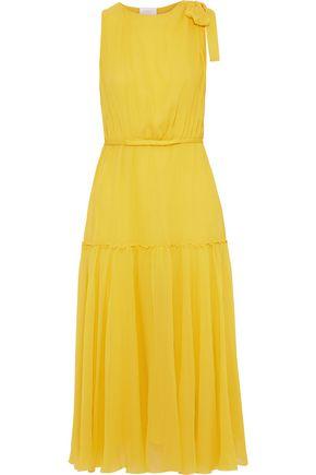 GIAMBATTISTA VALLI Bow-embellished silk-chiffon midi dress