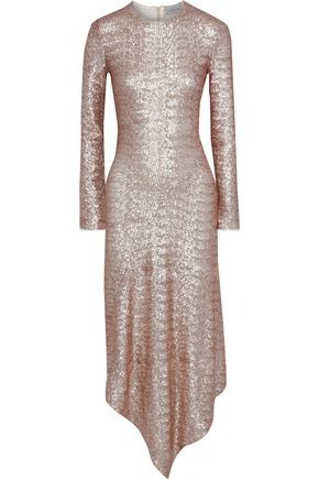PREEN by THORNTON BREGAZZI Sequined mesh midi dress