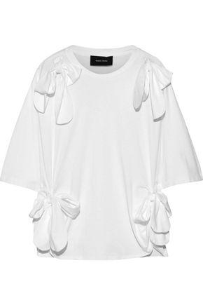 SIMONE ROCHA Oversized bow-embellished cotton-jersey T-shirt