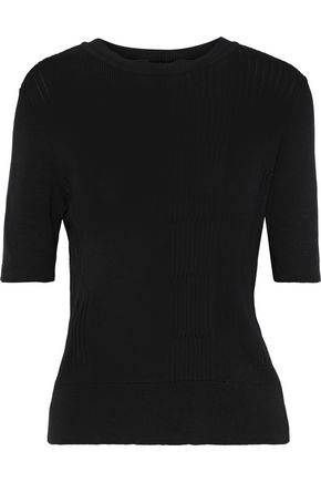 RICK OWENS Ribbed cotton-blend top