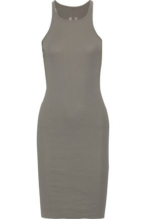 DRKSHDW by RICK OWENS Ribbed cotton-jersey tank