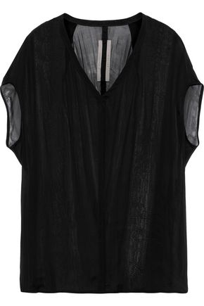 RICK OWENS Floating silk-chiffon top