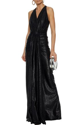 RICK OWENS LILIES Gathered lamé gown