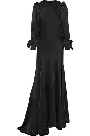 SIMONE ROCHA Asymmetric bow-detailed silk-satin gown