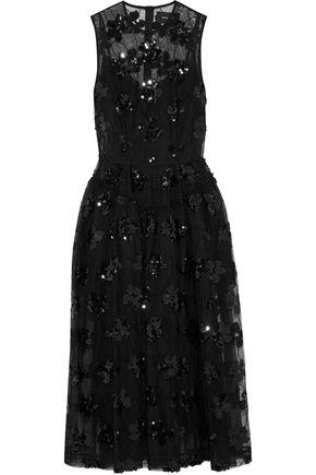 SIMONE ROCHA Sequin-embellished tulle midi dress