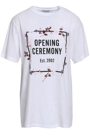 OPENING CEREMONY Printed cotton-jersey T-shirt