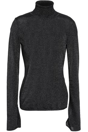 ROBERTO CAVALLI Metallic stretch-knit turtleneck sweater