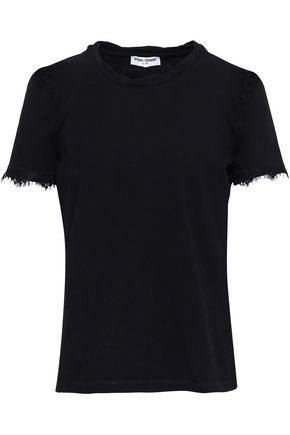 OPENING CEREMONY Lace-trimmed cotton-blend jersey T-shirt