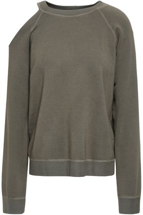 MONROW Cutout fleece sweatshirt