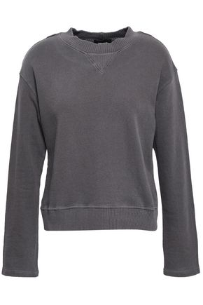 MONROW French cotton-terry sweatshirt