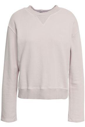 MONROW French cotton-terry sweatshirt