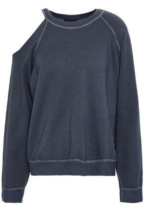MONROW Cutout fleece sweatshirt