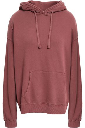 MONROW French cotton-terry hooded sweatshirt
