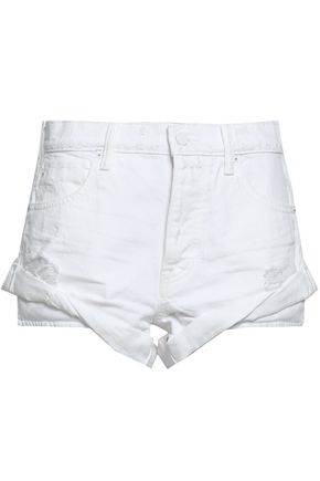 ALEXANDER WANG Distressed denim shorts