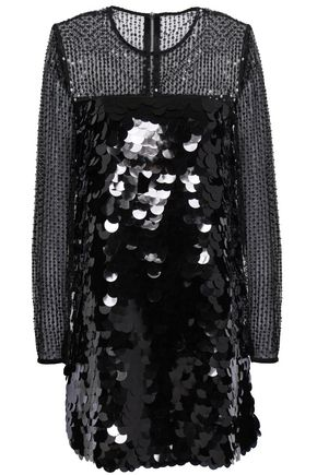 PERSEVERANCE Sequined embroidered tulle mini dress