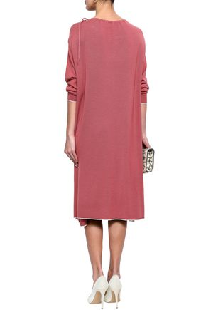 AGNONA Wool, cashmere and silk-blend midi dress