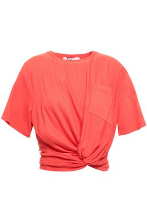 T by ALEXANDER WANG Twisted cotton-jersey T-shirt