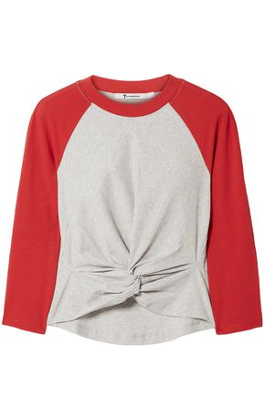 T by ALEXANDER WANG Knotted cotton-jersey T-shirt