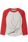 ALEXANDERWANG.T Twist-front cotton-jersey top