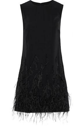 SALONI Ophelle embellished satin-crepe mini dress