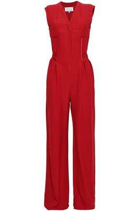 MAISON MARGIELA Satin-trimmed twill jumpsuit