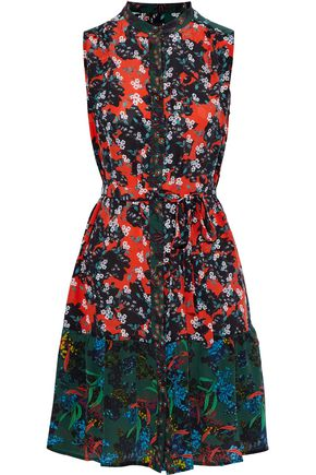 SALONI Tilly floral-print silk crepe de chine mini dress