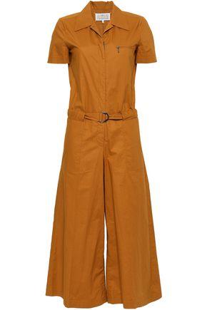 MAISON MARGIELA Belted cotton-poplin jumpsuit