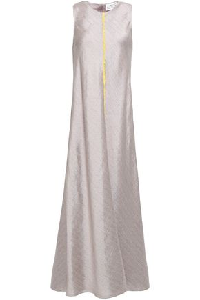 MAISON MARGIELA Lace-trimmed jacquard maxi dress