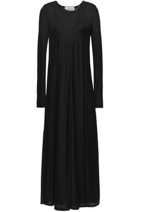 MAISON MARGIELA Fluted silk-jersey maxi dress