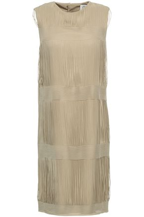 MAISON MARGIELA Tulle and twill-paneled dress