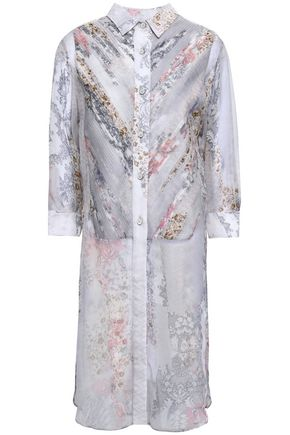 MAISON MARGIELA Printed silk-chiffon shirt dress
