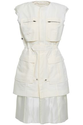 MAISON MARGIELA Layered cotton and silk-blend dress