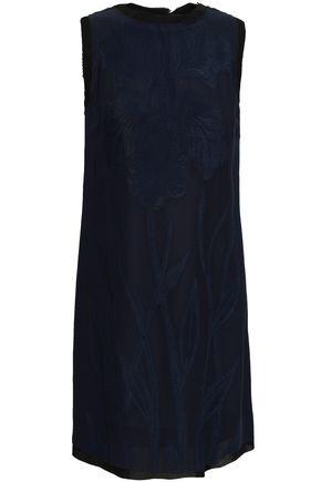 MAISON MARGIELA Embroidered cutout fil coupé mnini dress