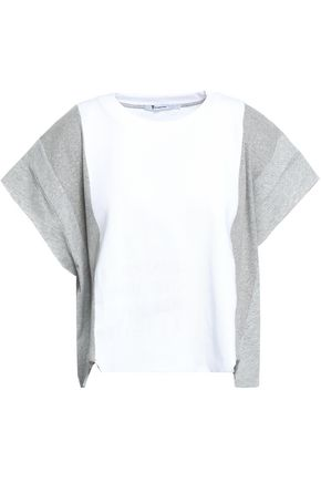 ALEXANDERWANG.T Cropped printed cotton-blend jersey T-shirt