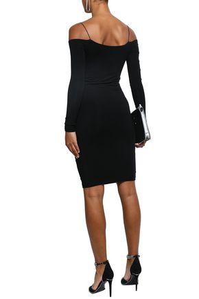 Cold Shoulder Cutout Stretch Modal Jersey Dress by Alexanderwang.T