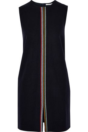 CHINTI AND PARKER Embroidered wool-blend felt mini dress