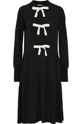 CHINTI AND PARKER Bow-embellished wool dress