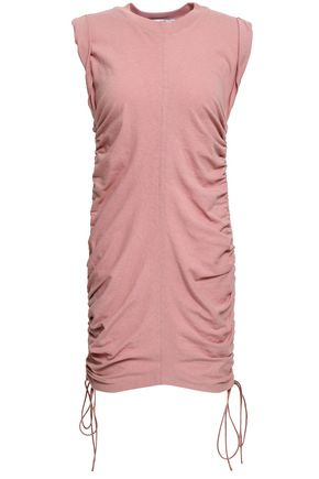 T by ALEXANDER WANG Ruched cotton-jersey mini dress