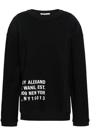 T BY ALEXANDER WANG | Alexanderwang.T Printed Cotton-Blend Jersey Sweatshirt | Goxip