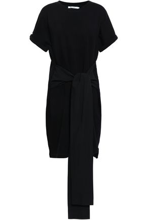 ALEXANDERWANG.T Belted cotton-blend mini dress
